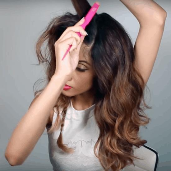 Edgy hairstyle idea: Faux undercut tutorial step six