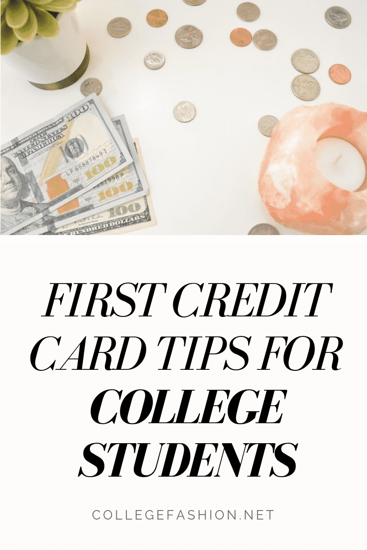 First credit card tips for college students -- things every college girl should know about credit