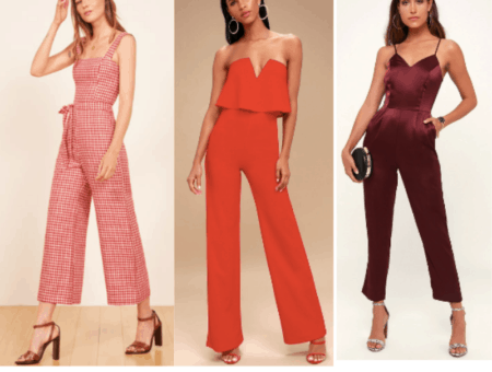 Cute jumpsuits in red
