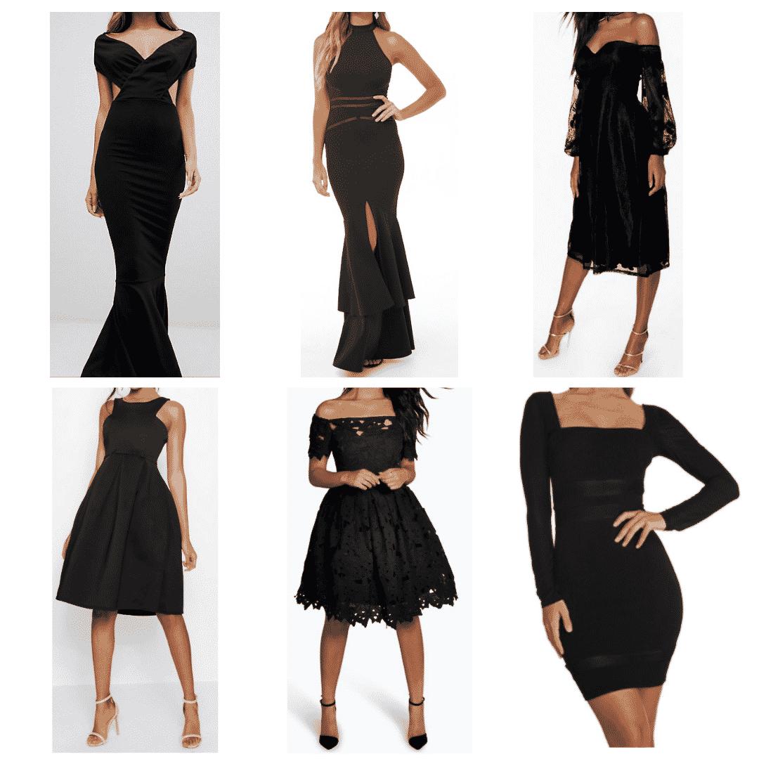 Black Gown: Off The Shoulder Gown, Scuba Dress, Mermaid Dress, Lace Midi Dress, Lace Off The Shoulder Dress, Mesh Mini Dress