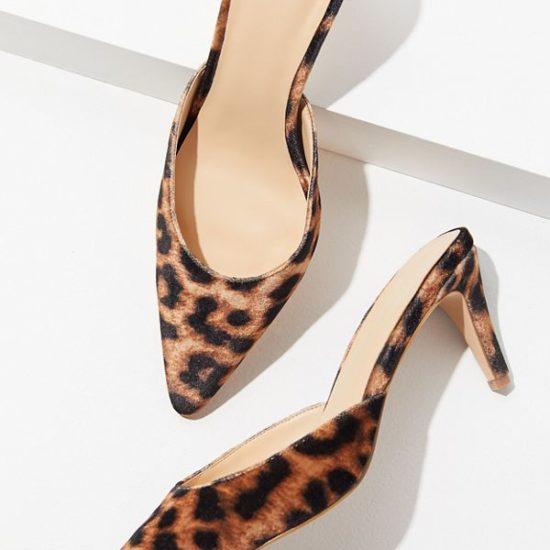 Leopard print kitten heels from Urban Outfitters