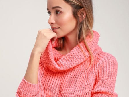 Living coral sweater