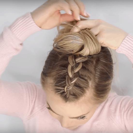 How to do a mohawk braid hairstyle: Step three braid hair