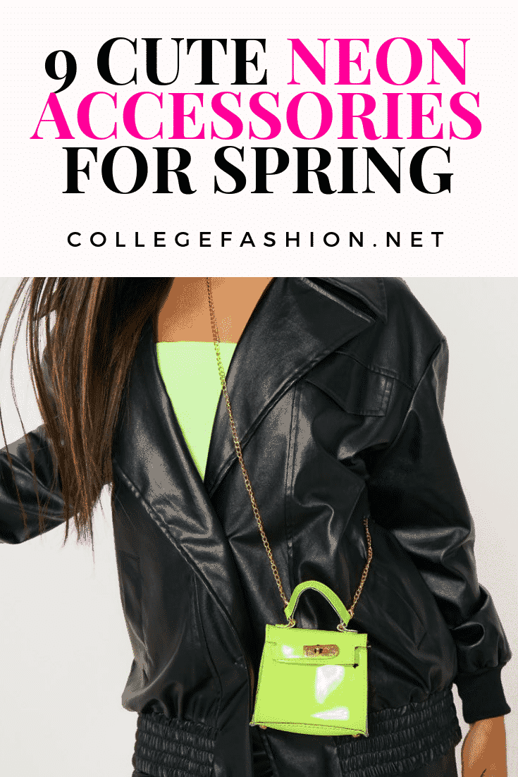 Neon accessories for spring - cute neon bag
