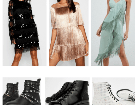 Outfits inspired by North West's style: Fringe dresses and combat boots