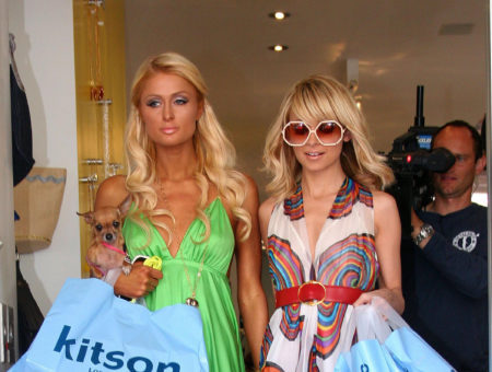 Paris Hilton and Nicole Richie at Kitson