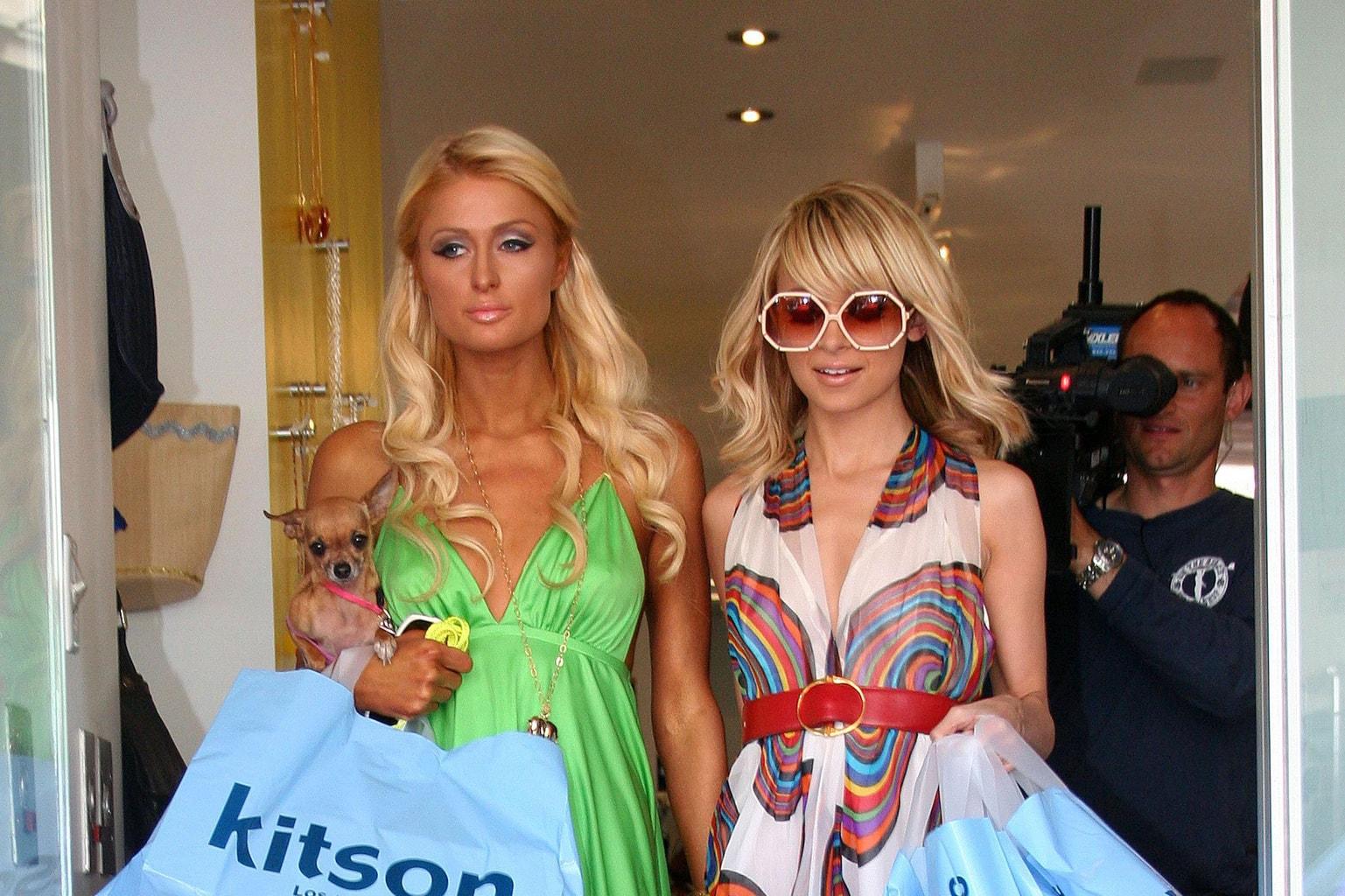 Paris Hilton and Nicole Richie at Kitson