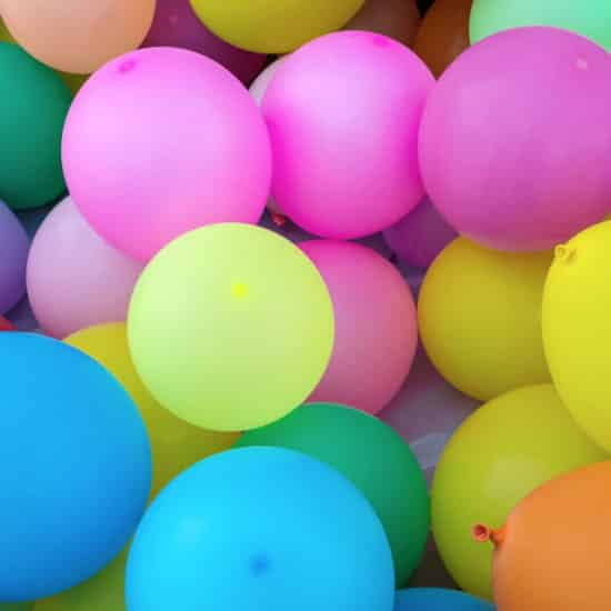 multi-colored party balloons