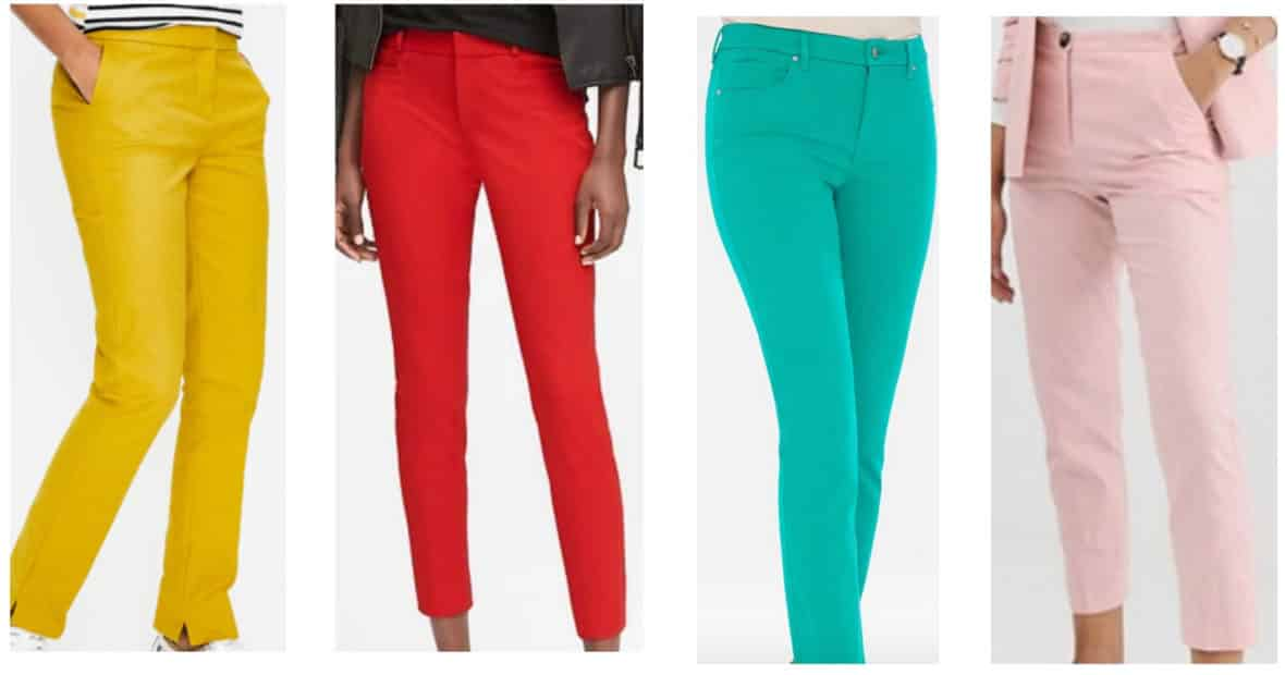 Colored pants -- preppy style must haves