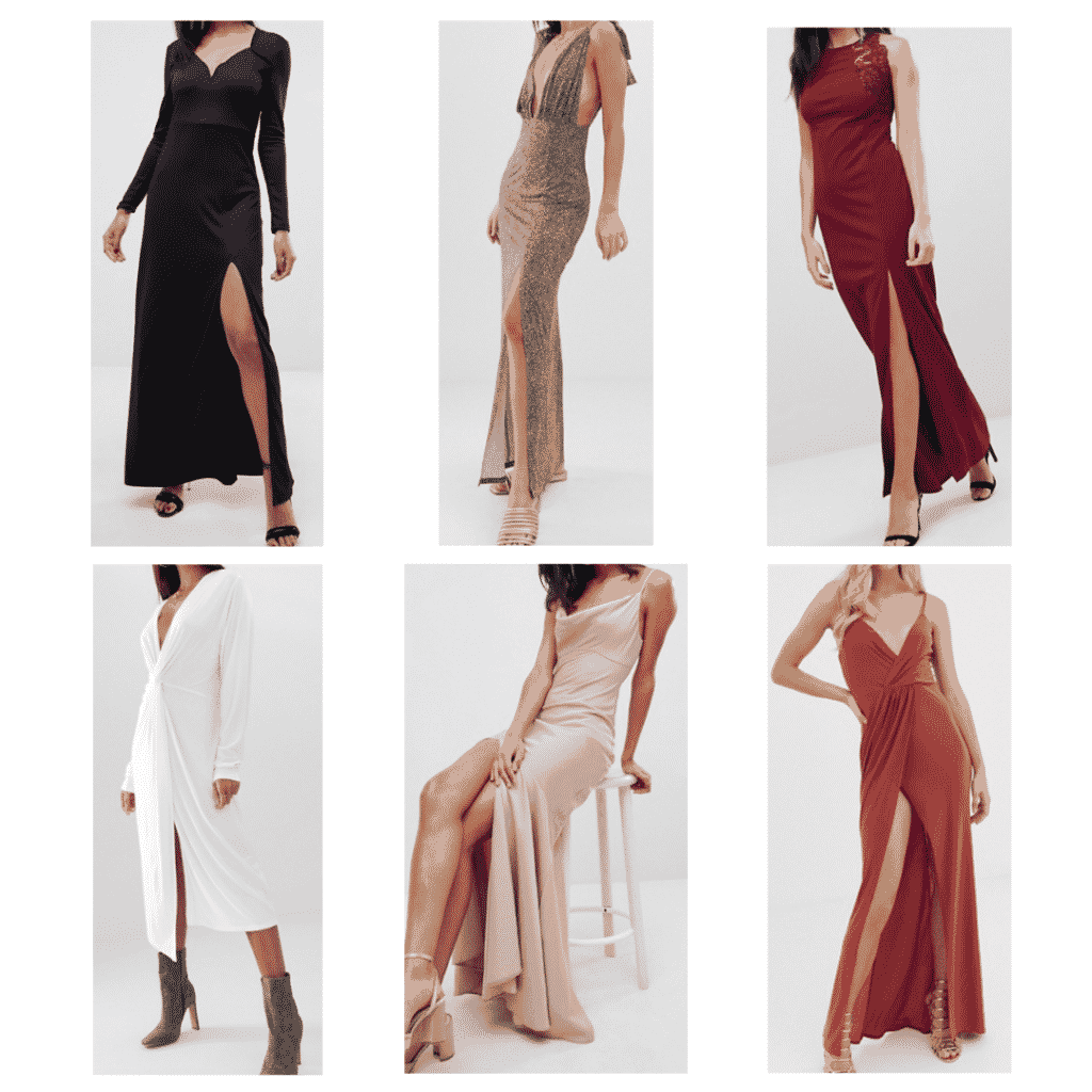Slit Dress: Sweetheart Neck Dress, Twist Front Dress, Plunge Neck Dress, Cami Dress, Lace Dress, Wrap Maxi Dress