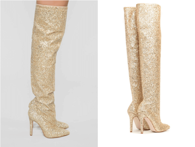 56c18bfb7ee5 How to Achieve  THIS  High Fashion Trend On a Budget  Glitter Boots ...