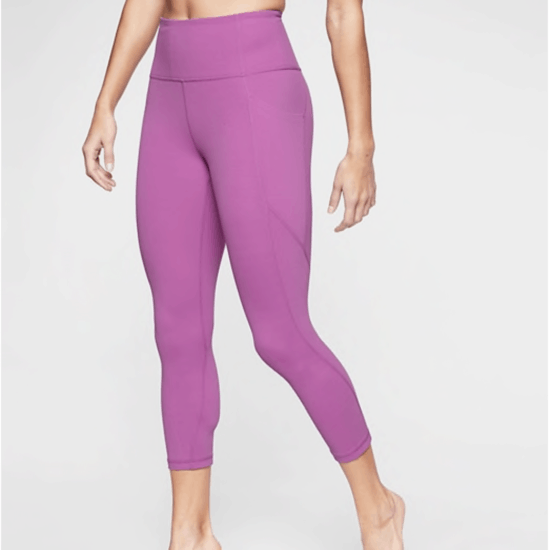 Purple workout leggings