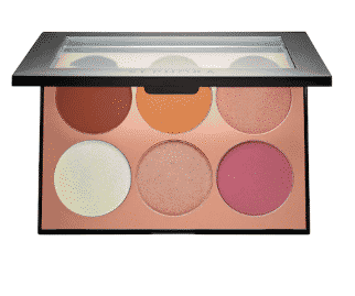 Makeup for dark skin: Cheek palette