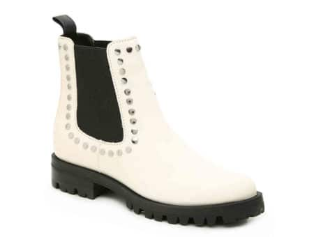 Best edgy shoes: White boots with studs