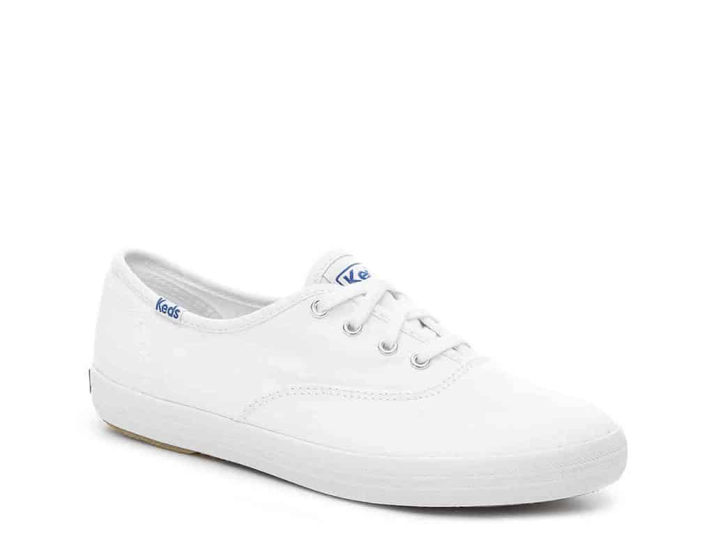 Classic shoes for girls with classic style - simple white keds sneakers