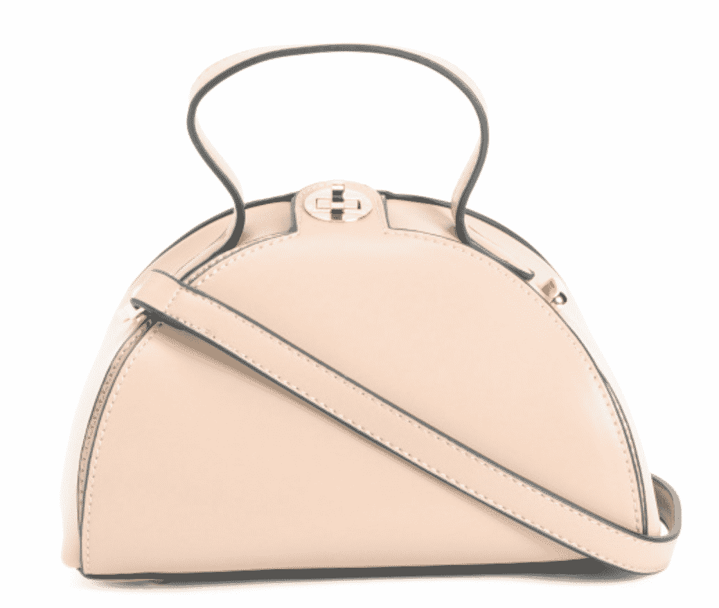 nude crossbody top handle purse