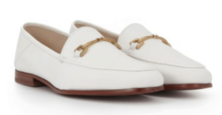 Sam Edelman white loafers