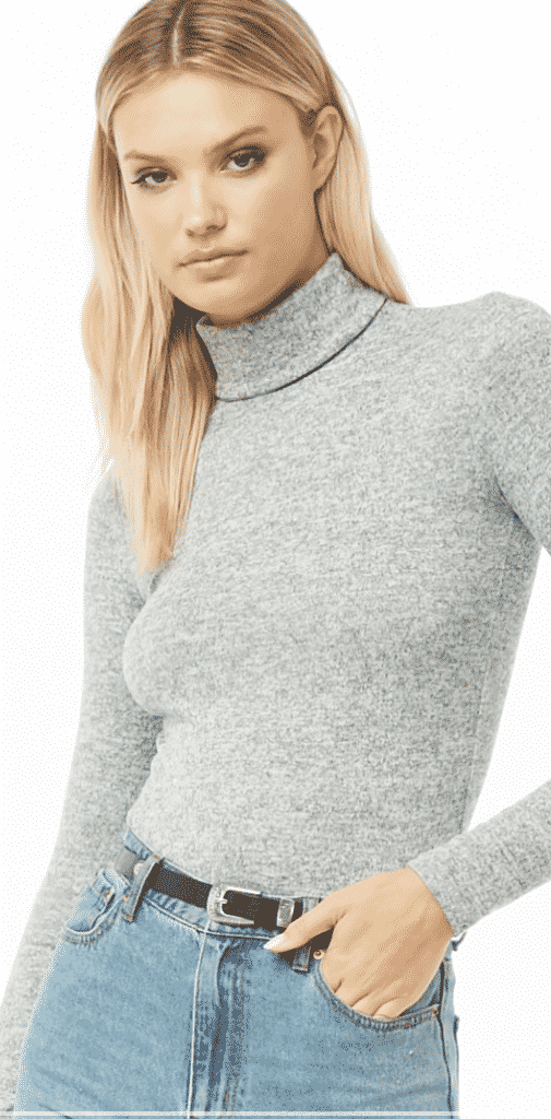 grey turtle neck