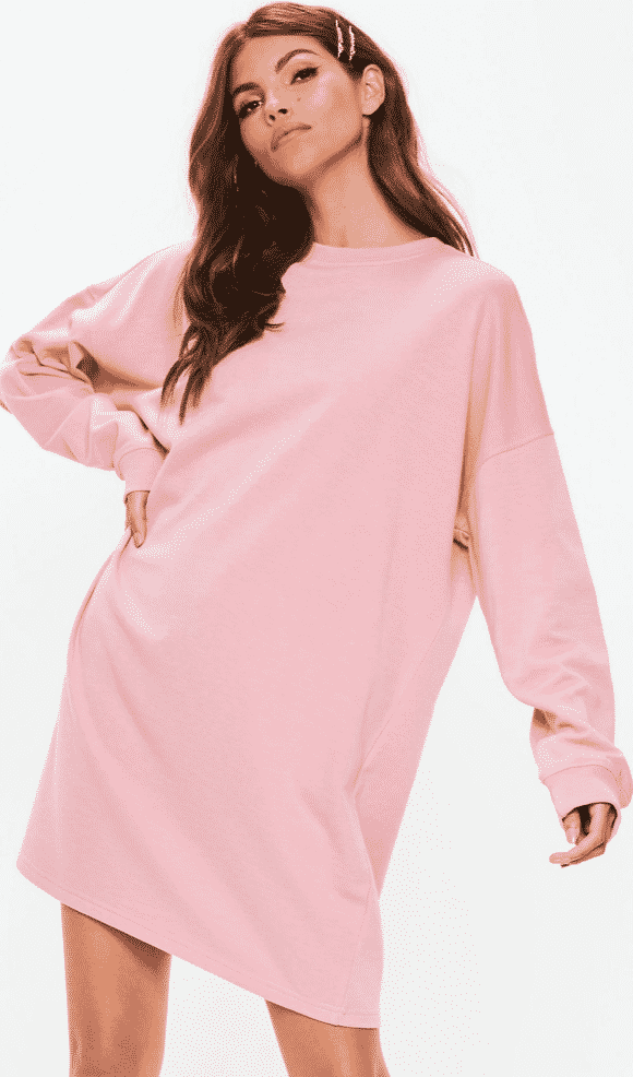 Stassiebabie style -- pink oversized sweater dress