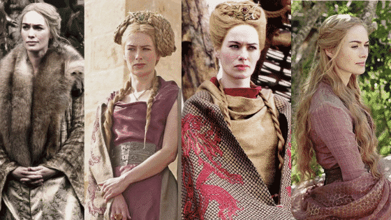 Cersei Lannister outfits - season 1