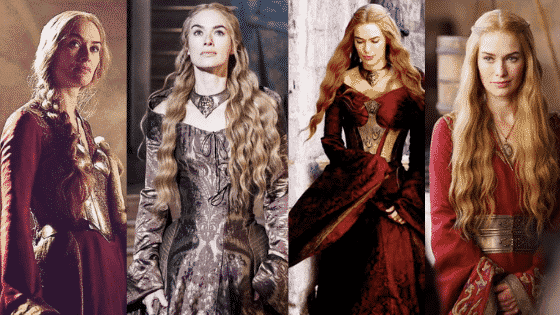 Cersei Lannister outfits - seasons 2-3