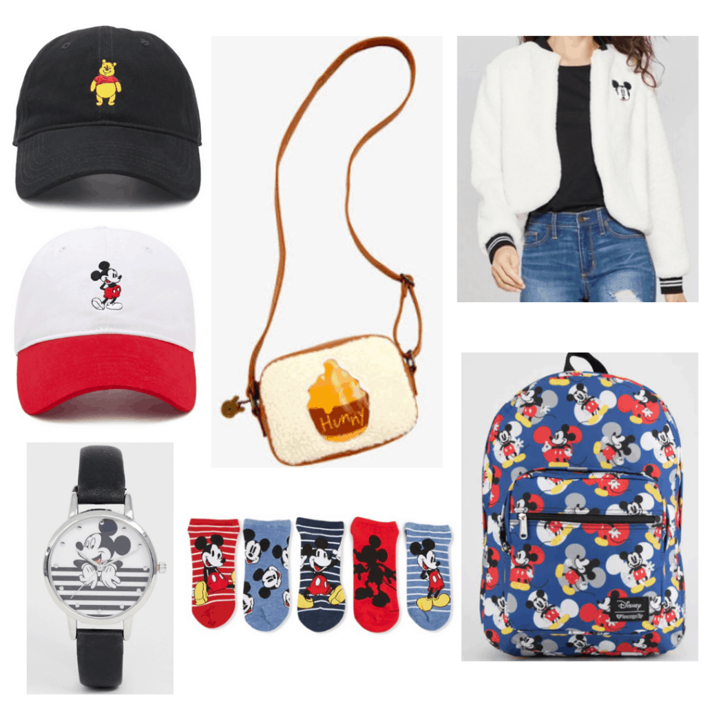 Disney Accessories: Winnie The Pooh Hate, Mickey Hat, Mickey watch, Winnie The Pooh Purse, Mickey Socks, Mickey Sherpa Jacket, Mickey Backpack