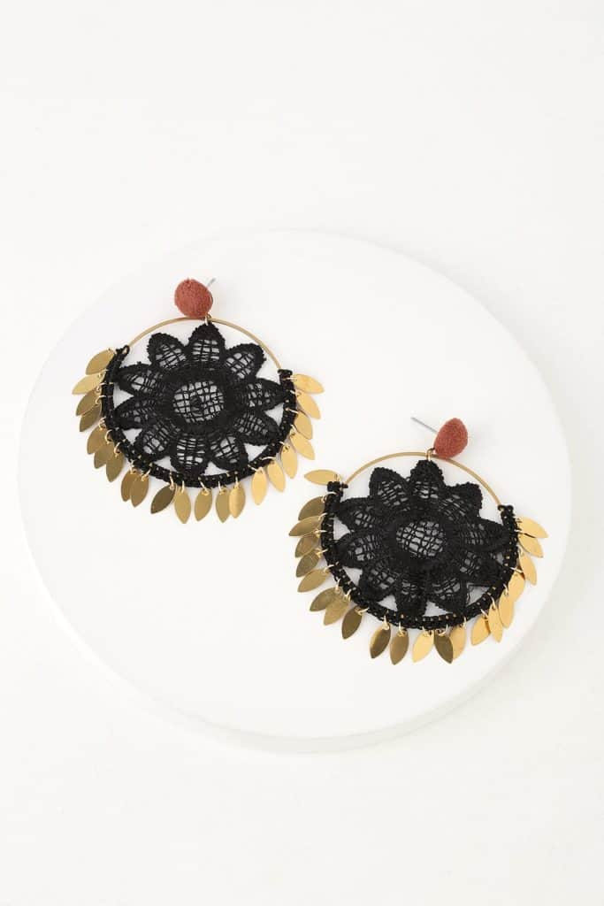 Dream catcher, black earrings