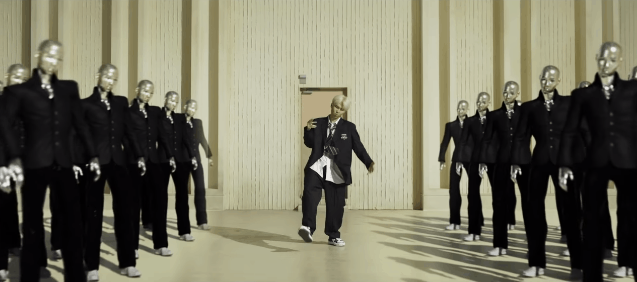 BTS persona screenshot - RM in a black suit