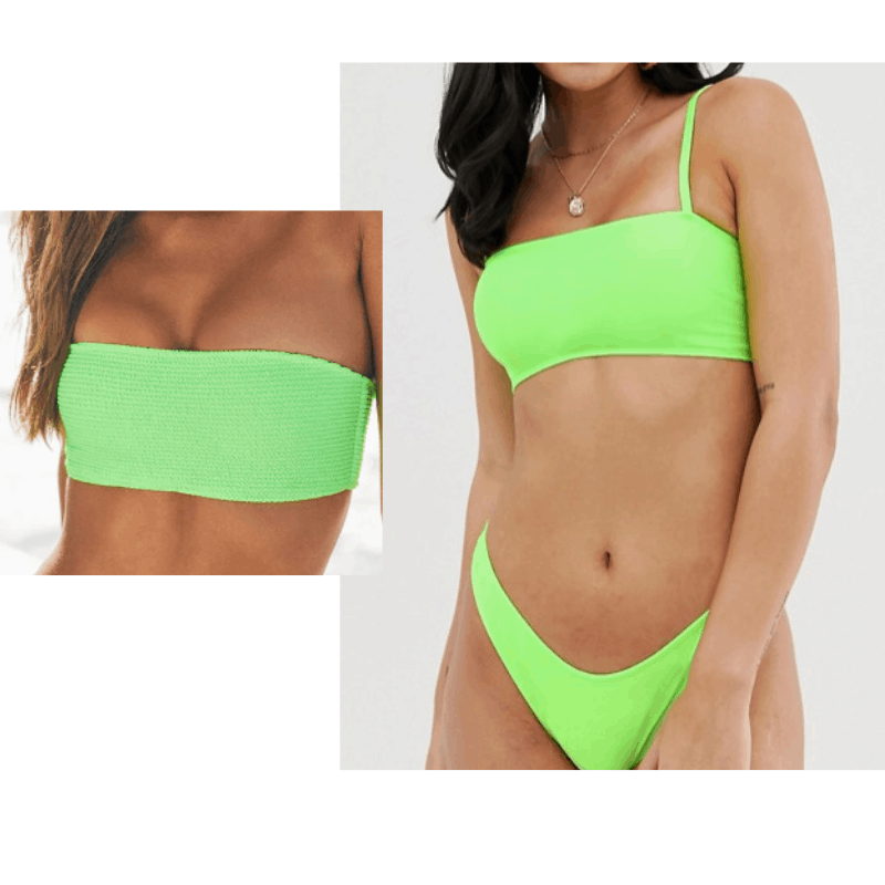 Kylie Jenner vacation outfits - neon green bikini