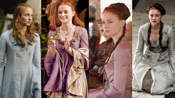 Sansa Stark season 1 outfits