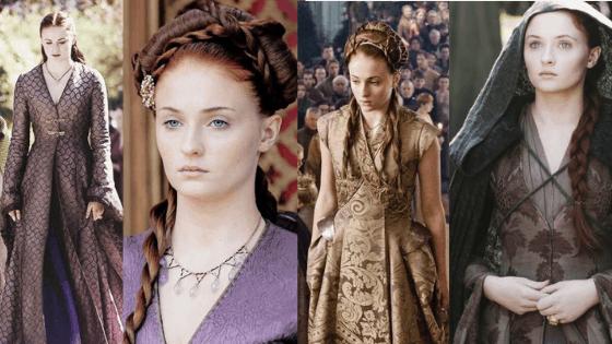 Sansa Stark season 3-4 outfits