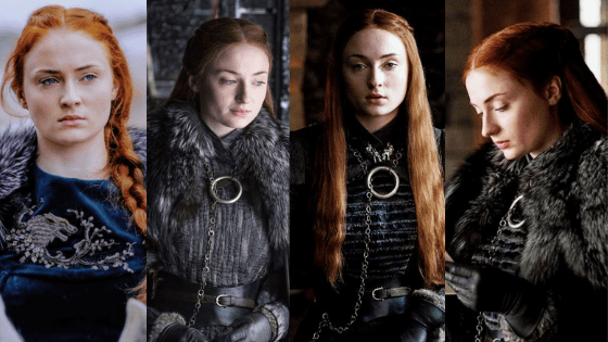 Sansa Stark outfits seasons 6-7 of game of thrones