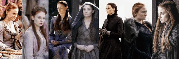 Sansa Stark outfits all seasons