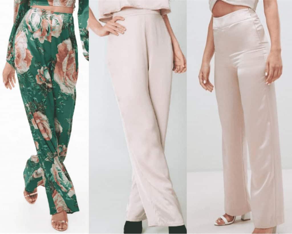 Satin pants trend