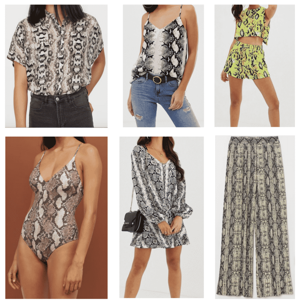 Snake Print: Snake Blouse, Snake One Piece Swimsuit, Snake Cami, Snake Swing Dress, Snake Two Piece Set, Snake Pants