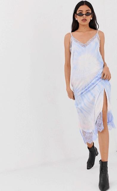 Tie dye lace dress from ASOS