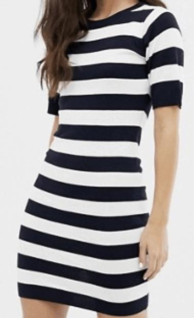 Brave Soul harbour sweater dress in stripe