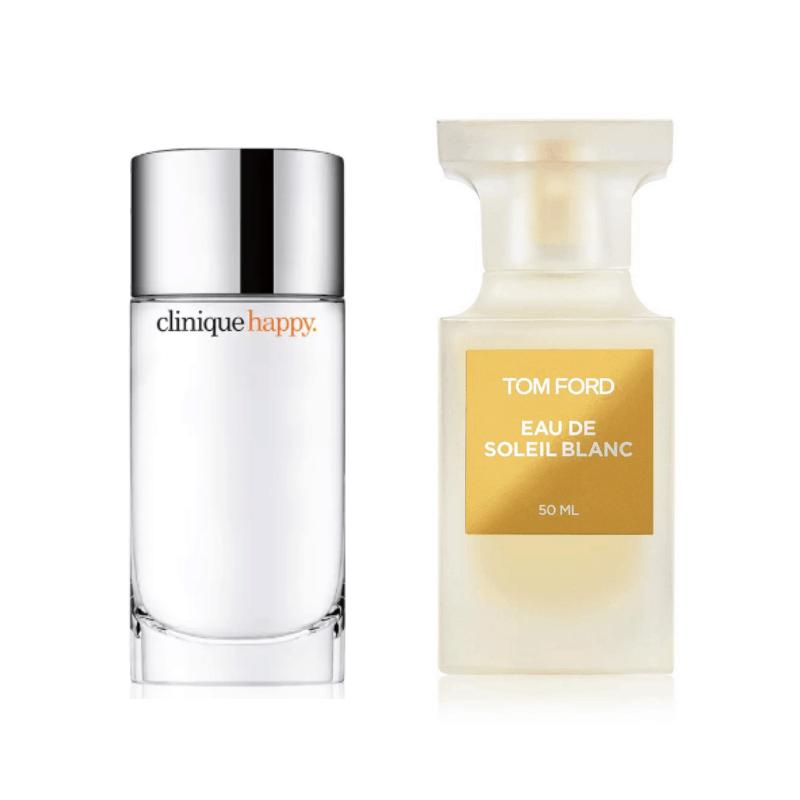 Fragrances - Clinique Happy and Tom Ford Eau De Soleil Blanc