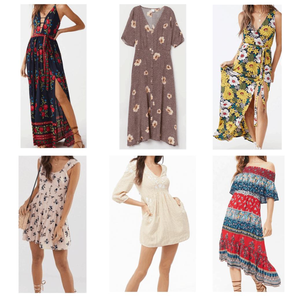 Floral Dresses: Floral Maxi dress, midi dress, sleeveless maxi dress, Mini dress, smock dress, off the shoulder dress