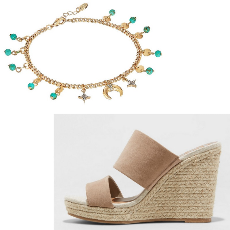 Charm anklet and espadrilles