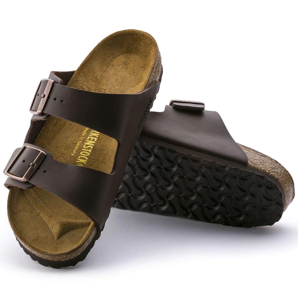 Brown birkenstock shoes
