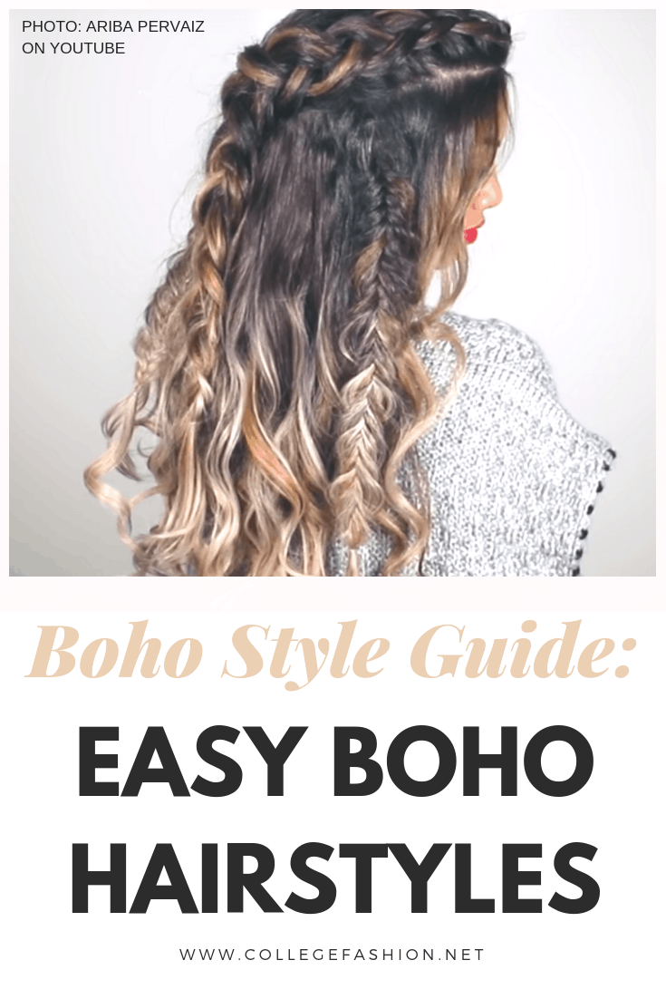 Phenomenal Bohemian Style 101 3 Easy Boho Hairstyles College Fashion Schematic Wiring Diagrams Amerangerunnerswayorg