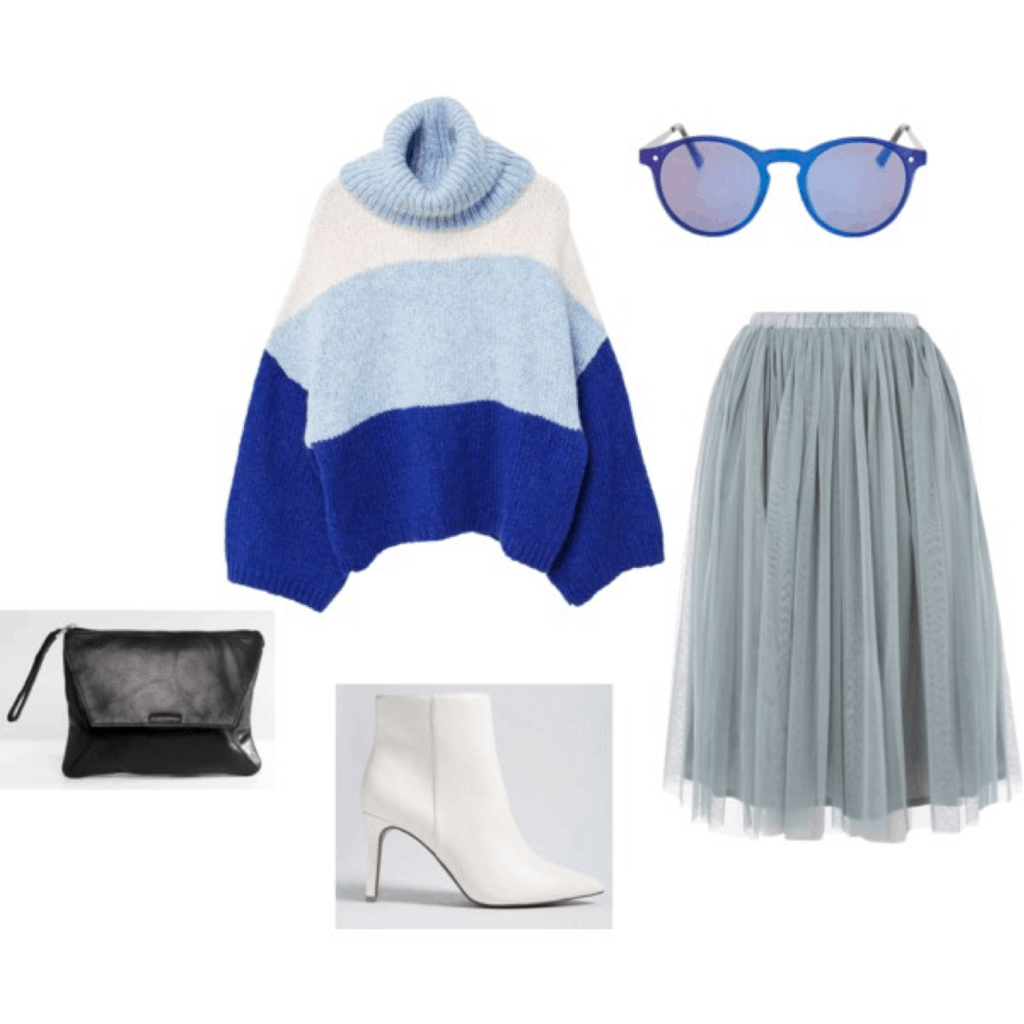blue stripes and tulle