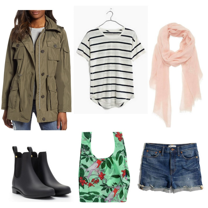6374bca8b91af What to wear on a rainy day: Casual outfit for a warm rainy day with