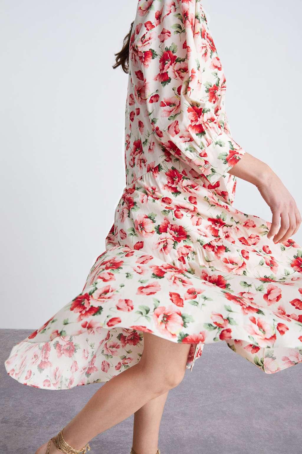 Pretty floral print dress from Zara