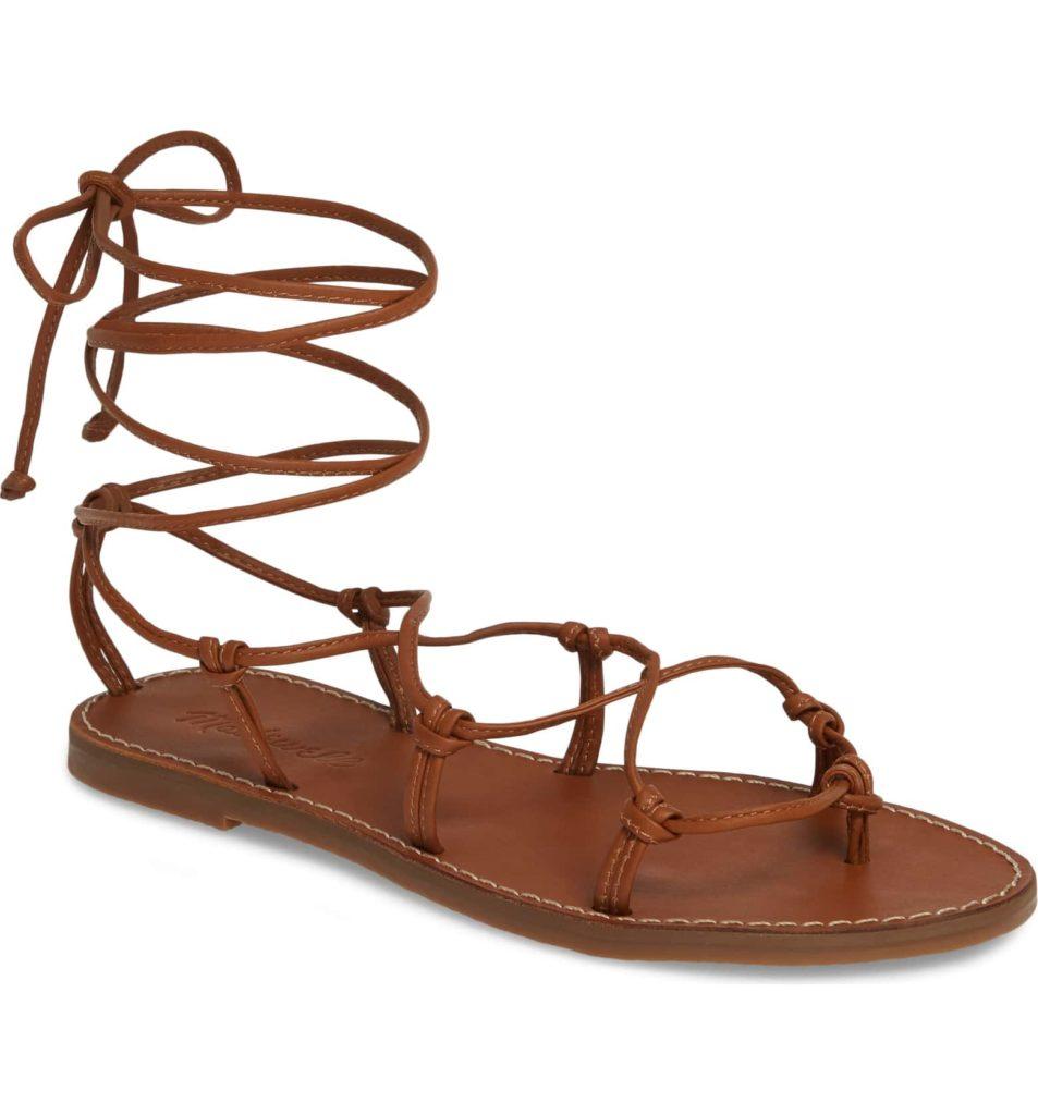 Brown gladiator sandals