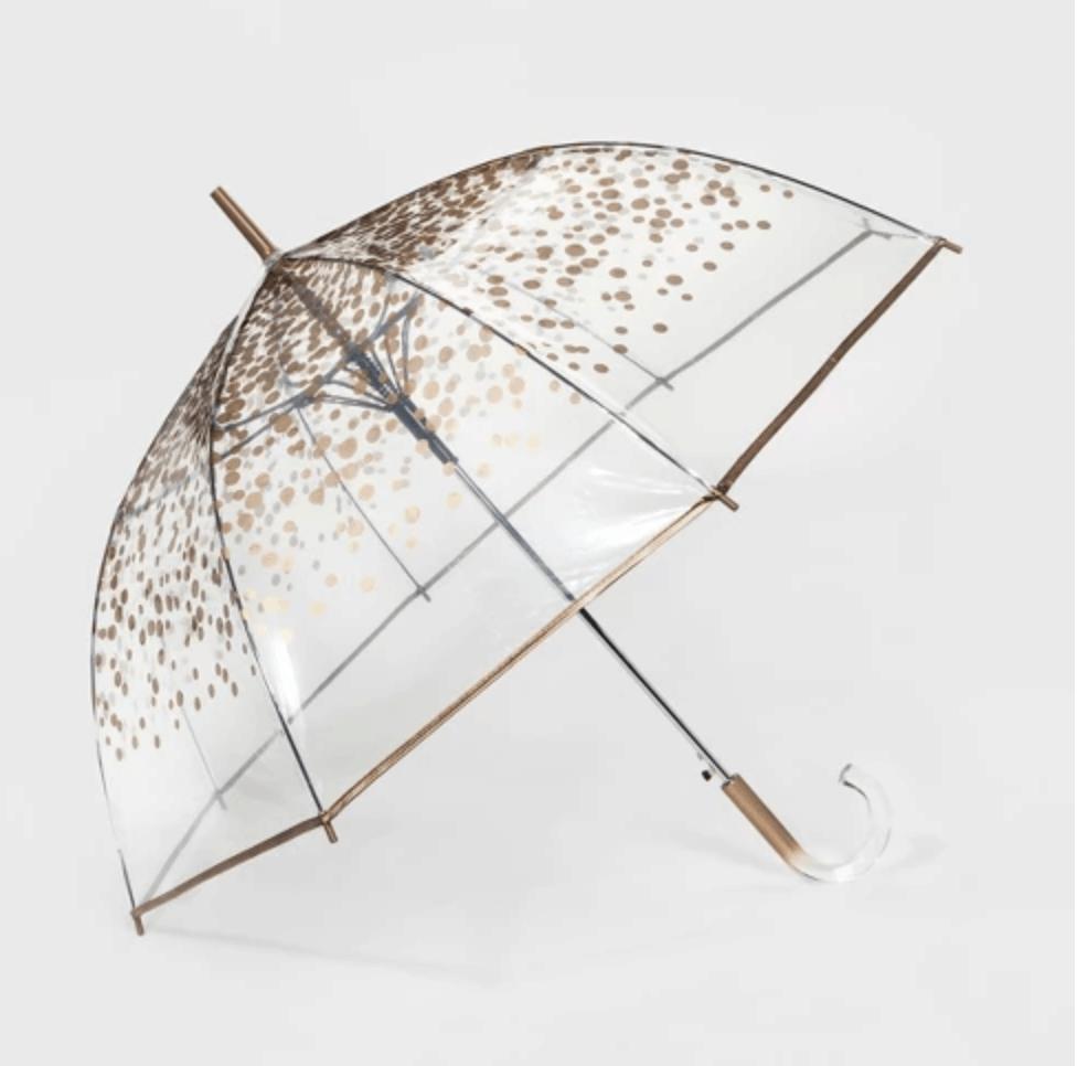 Gold dot umbrella