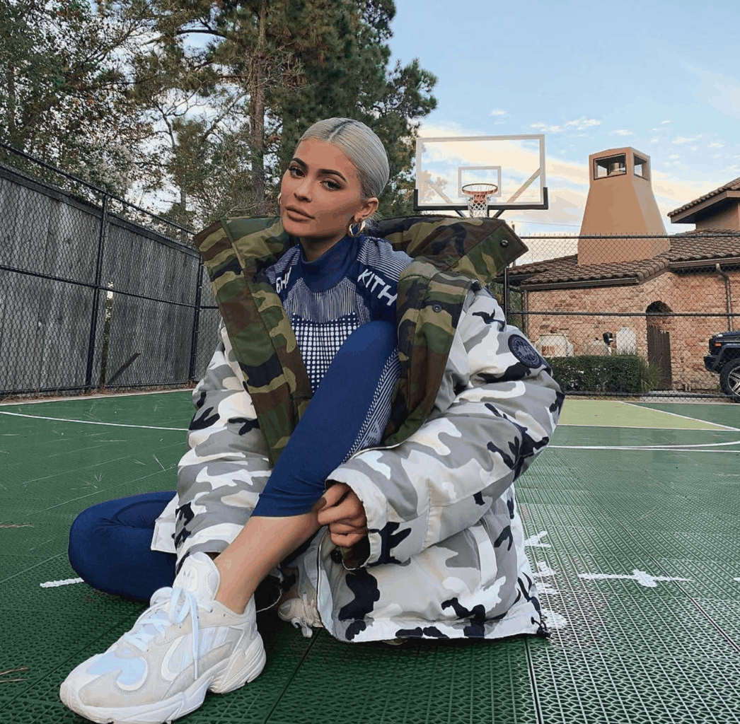 Kylie Jenner in camo