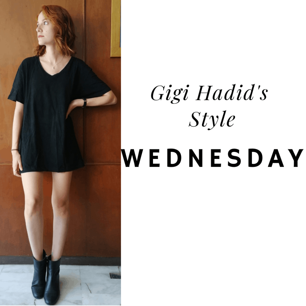 Gigi's style: Wednesday t-shirt dress, booties