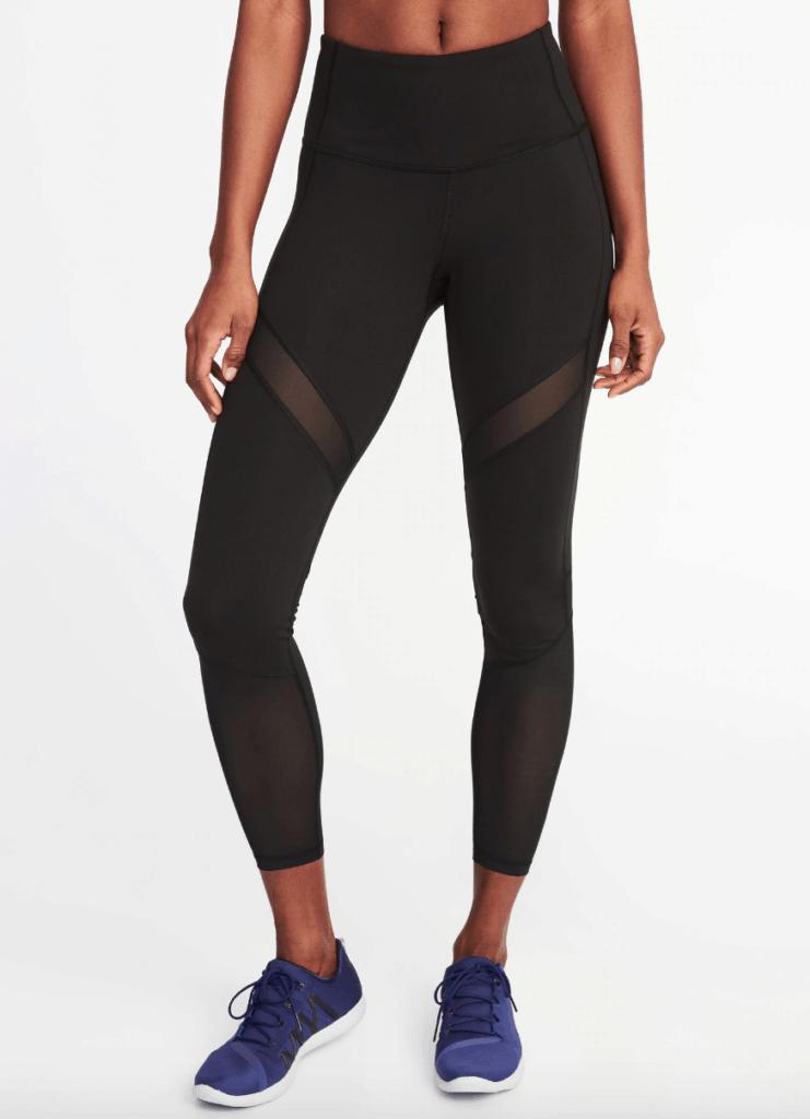 Black cutout workout leggings